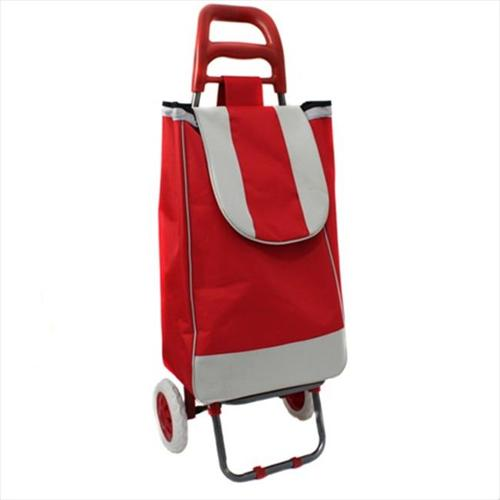 World Traveler 65SC-N4RD Easy Rolling Lightweight Collapsible Shopping Cart, Red