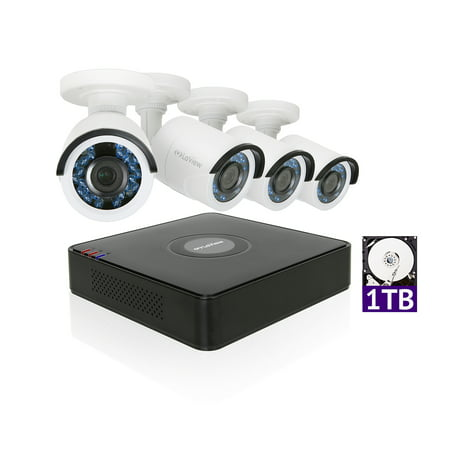 LaView 1080P HD 4 Security Cameras 4CH Home Video Security Camera System w/ 1TB HDD 2MP Night View Cameras CCTV Surveillance - Cctv Systems