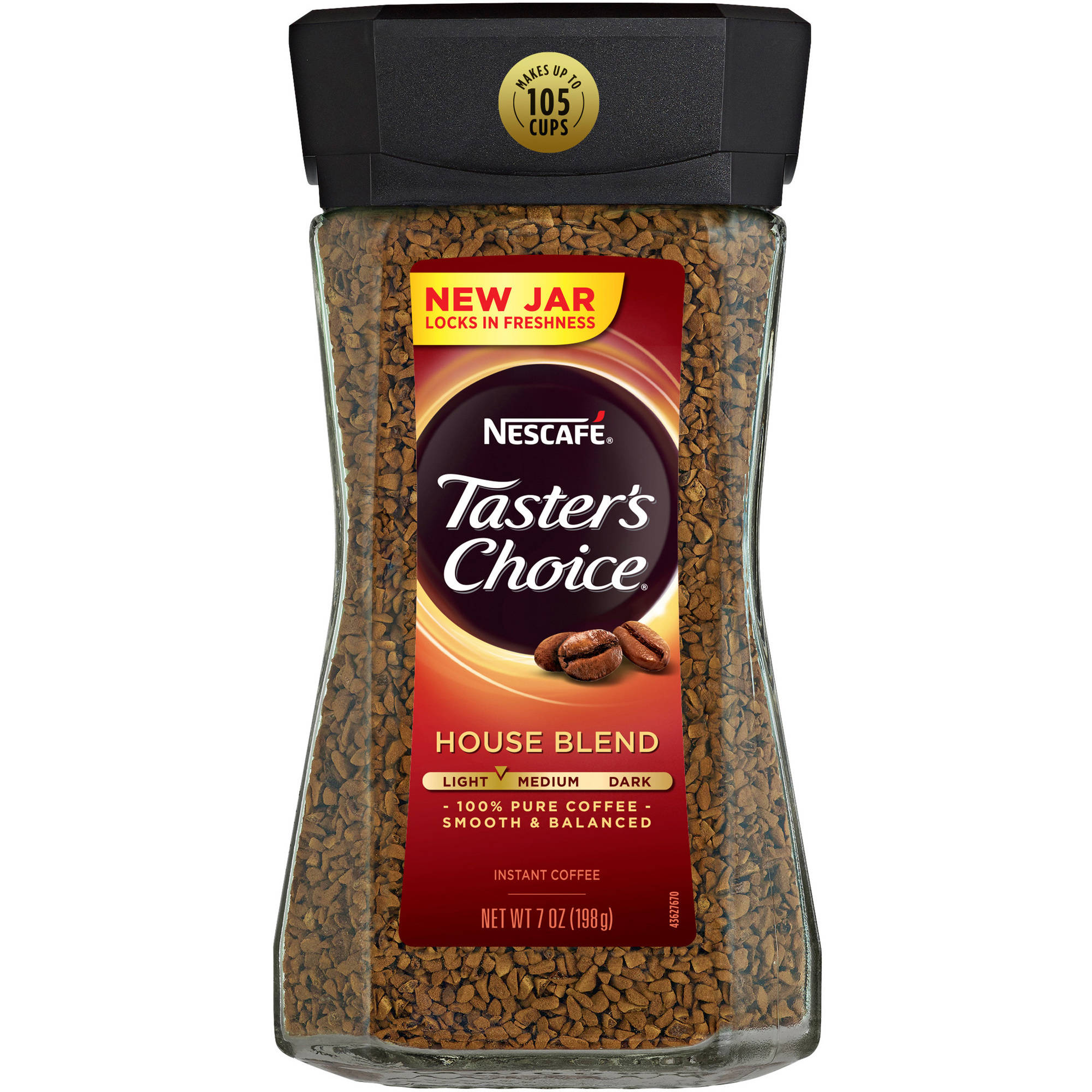 Nescafe Taster's Choice House Blend Instant Coffee, 7 oz