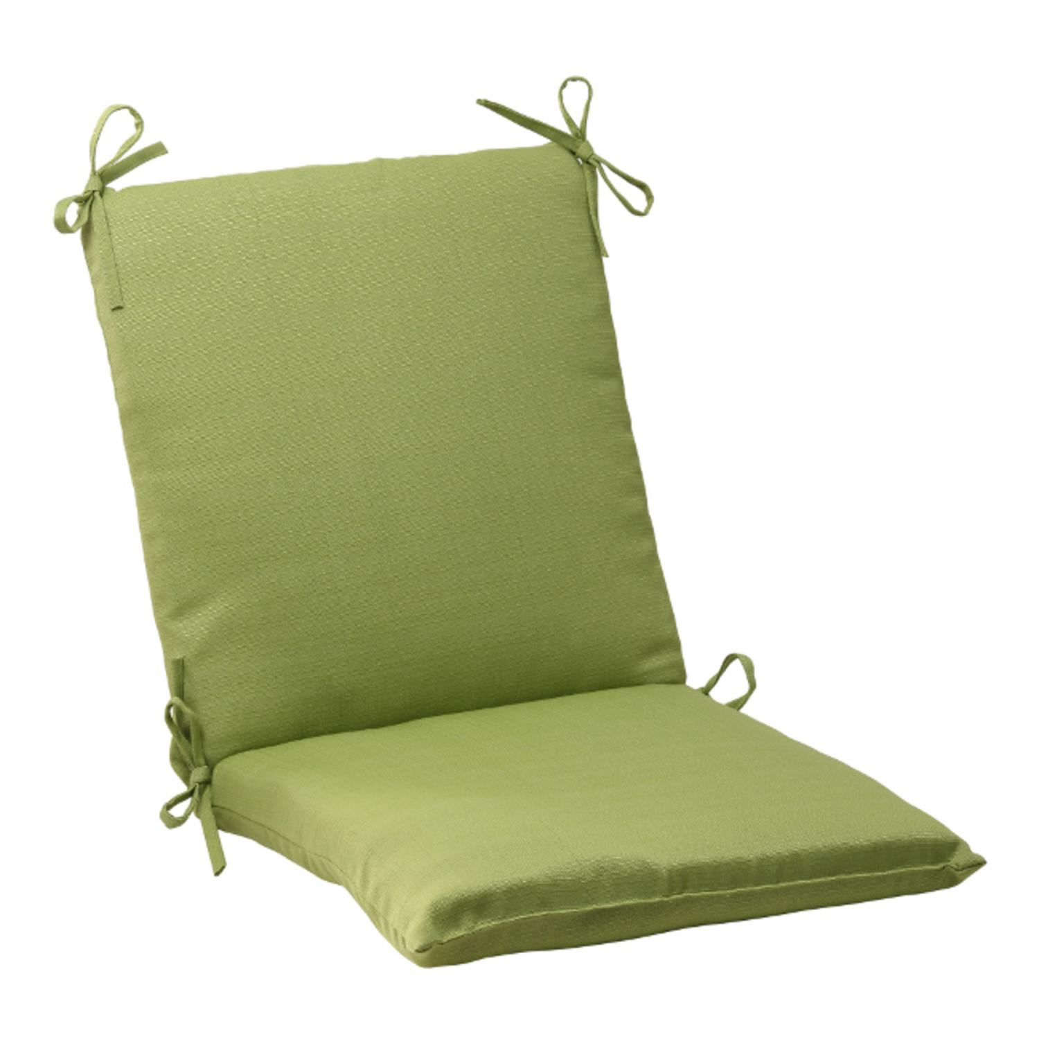 """36.5"""" Solid Olive Green Outdoor Patio Square Wicker Cushion"""