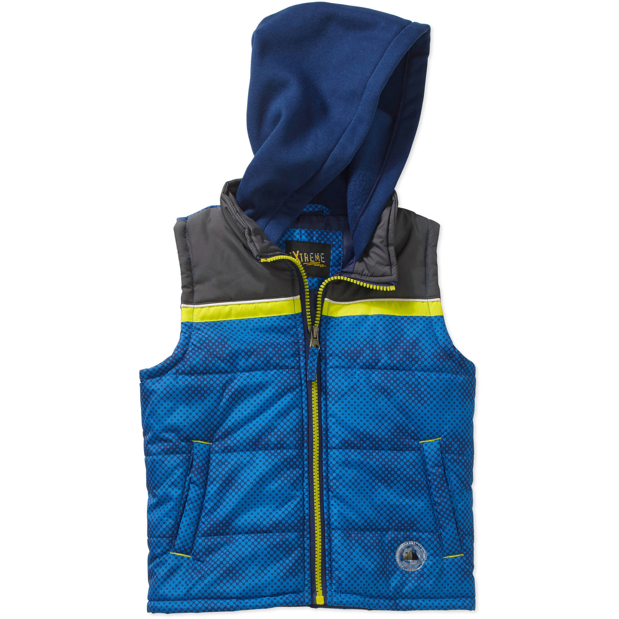 iExtreme Toddler Boys' Colorblock Hooded Puffer Vest