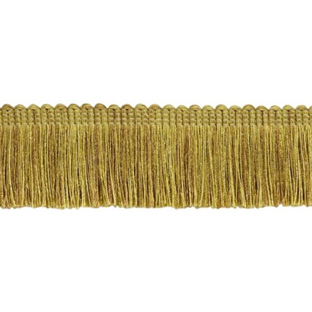 1.5' Brush Fringe (5 Yard Value Pack|Romanesque Gold, Light Brown, Light Olive Green Duke Collection Brush Fringe Trim|2