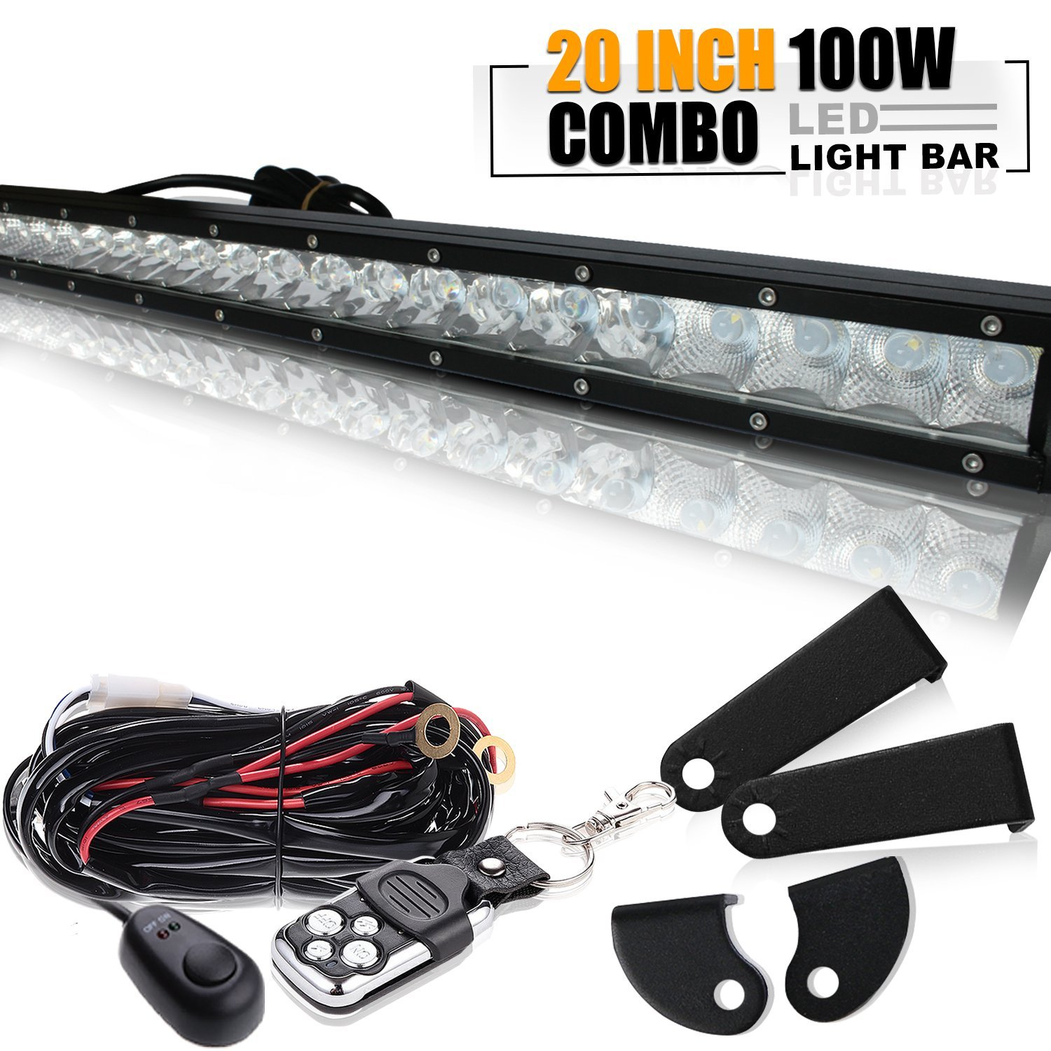 20 inch led light bar with wiring harness dodge   47