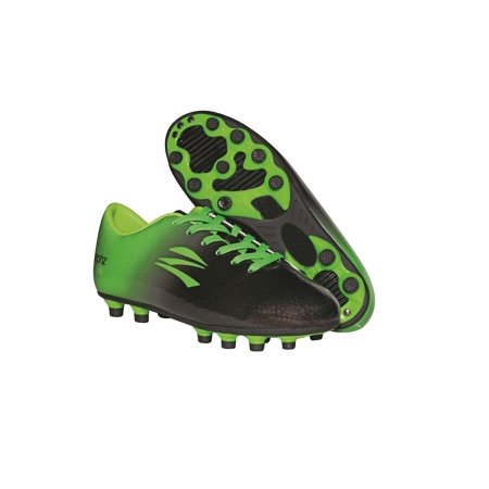 zephz Wide Traxx Black/Lime Soccer Cleat Youth (Blue And Green Nike Indoor Soccer Shoes)