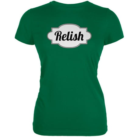 Halloween Relish Costume Kelly Green Juniors Soft T-Shirt - Kelly Karloff Halloween