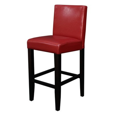 Villa Faux Leather Red Counter Stool (Set of 2)
