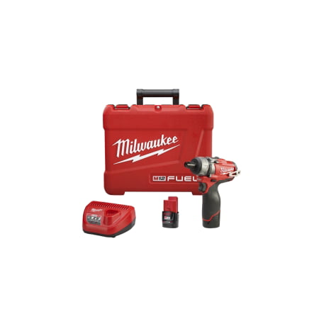 Milwaukee M12 Fuel 1/4u0022 Hex 2-Spd Scrwdriver Kit