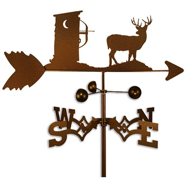 SWEN Products Inc Handmade Deer Hunter Outhouse Weathervane by Overstock