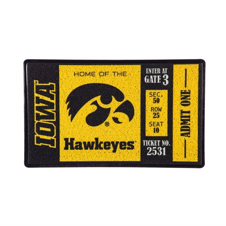 Turf Mat, University of Iowa Turf Home Plate Mat