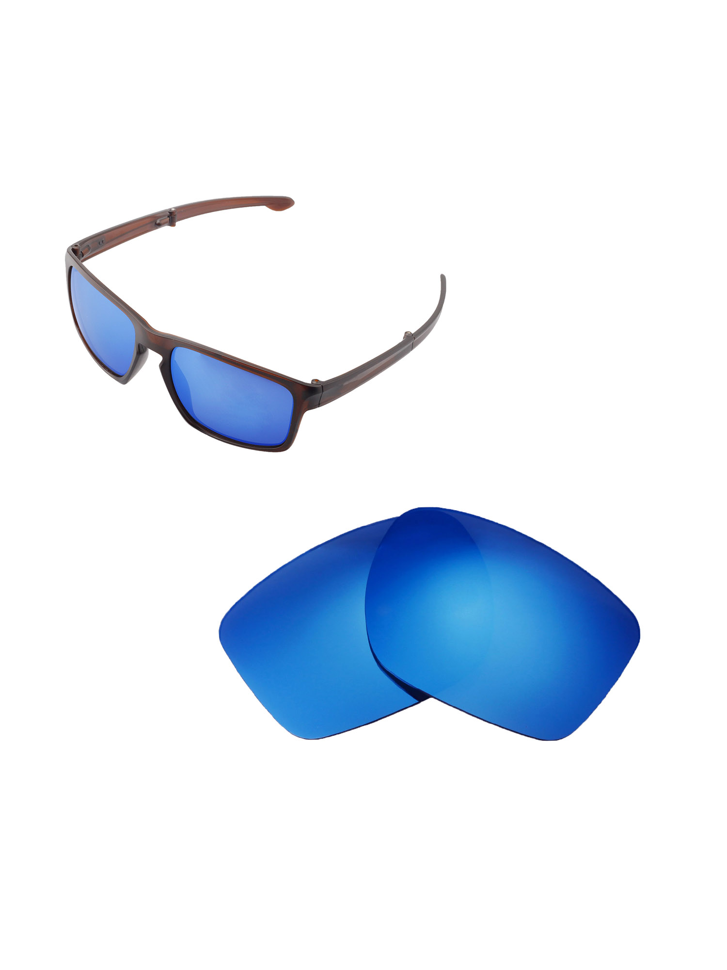 0ccd6ace1e8 Walleva - Walleva Titanium Polarized Replacement Lenses for Oakley Sliver F  Sunglasses - Walmart.com