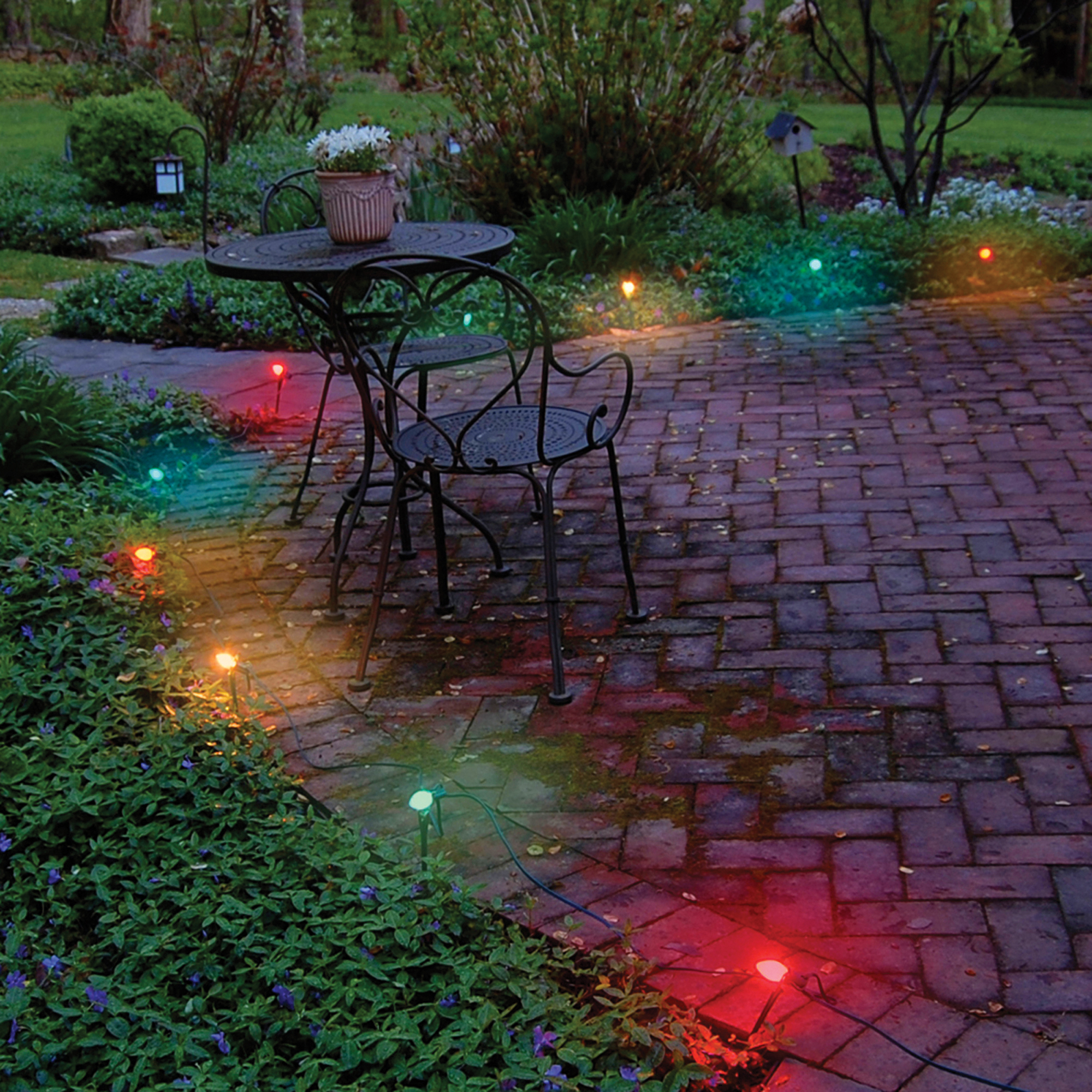 LumaBase Electric Pathway Lights, 10 Count Multi Color