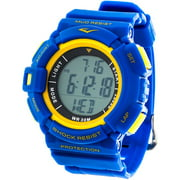 Everlast Men's HR4 Heart Rate Monitor Watch with Transmitter Belt, Blue Plastic Band