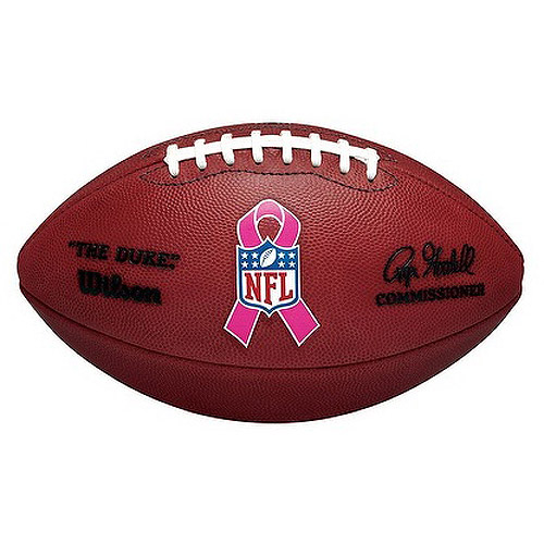 Wilson NFL Official Duke Football with Breast Cancer Awareness Ribbon