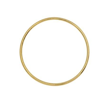 Large Circle Open Frame Link, 25mm Diameter / 18 Gauge, 1 Piece, 14K Gold Filled