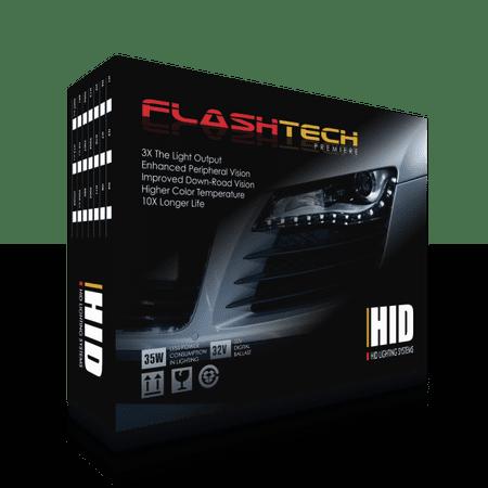 Flashtech H4 Bulb Size Premier 32V HID Headlight Replacement Bulb -8000K (1 Pair)