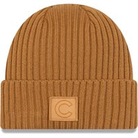 Chicago Cubs New Era Label Cuffed Knit Hat - Tan - OSFA