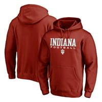 Indiana Hoosiers Fanatics Branded True Sport Football Pullover Hoodie - Crimson