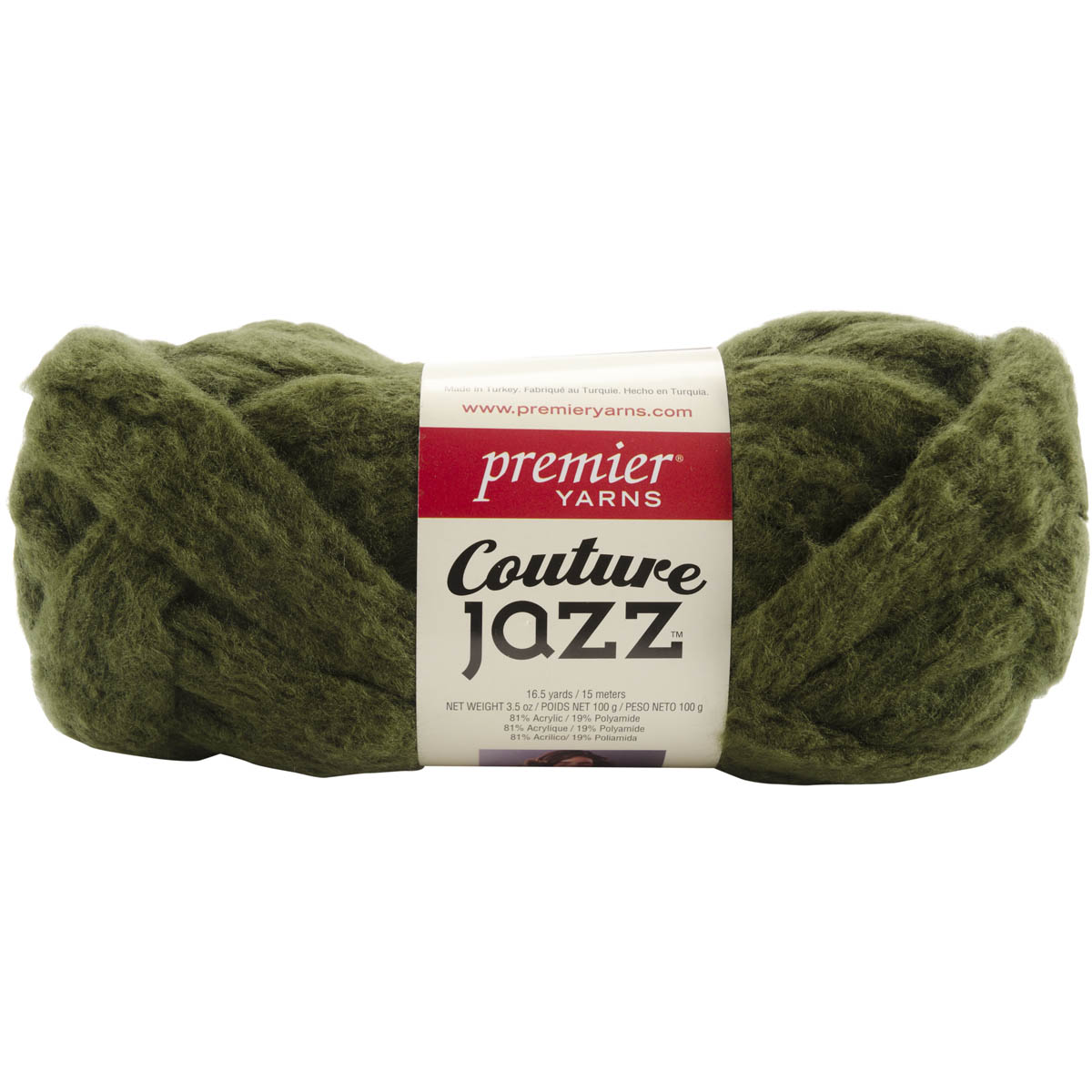 Premier Yarns Couture Jazz Yarn-Olive