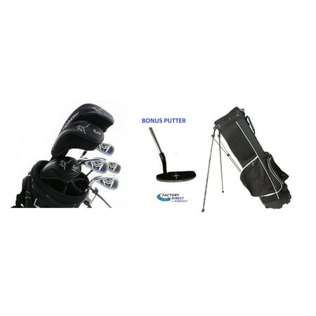 AGXGOLF Ladies Left Hand Petite Length Magnum XL Complete Golf Club Set w/Ladies Stand Bag & Free Putter: Fast (Best 1 Iron Golf Club)