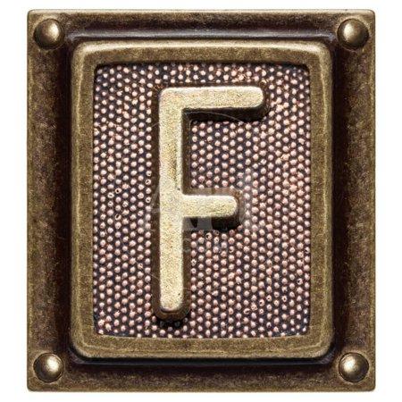 Metal Button Alphabet Letter F Print Wall Art By donatas1205](Button Art)