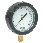 SPAN LFS-210-100-G-CERT Pressure Gauge,0 to 100 psi,2-1/2In