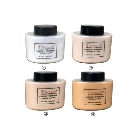 Face Banana Loose Powder Smooth Nature Loose Oil Control Makeup Concealer Mineral Finish Transparent Foundation Cosmetics ()