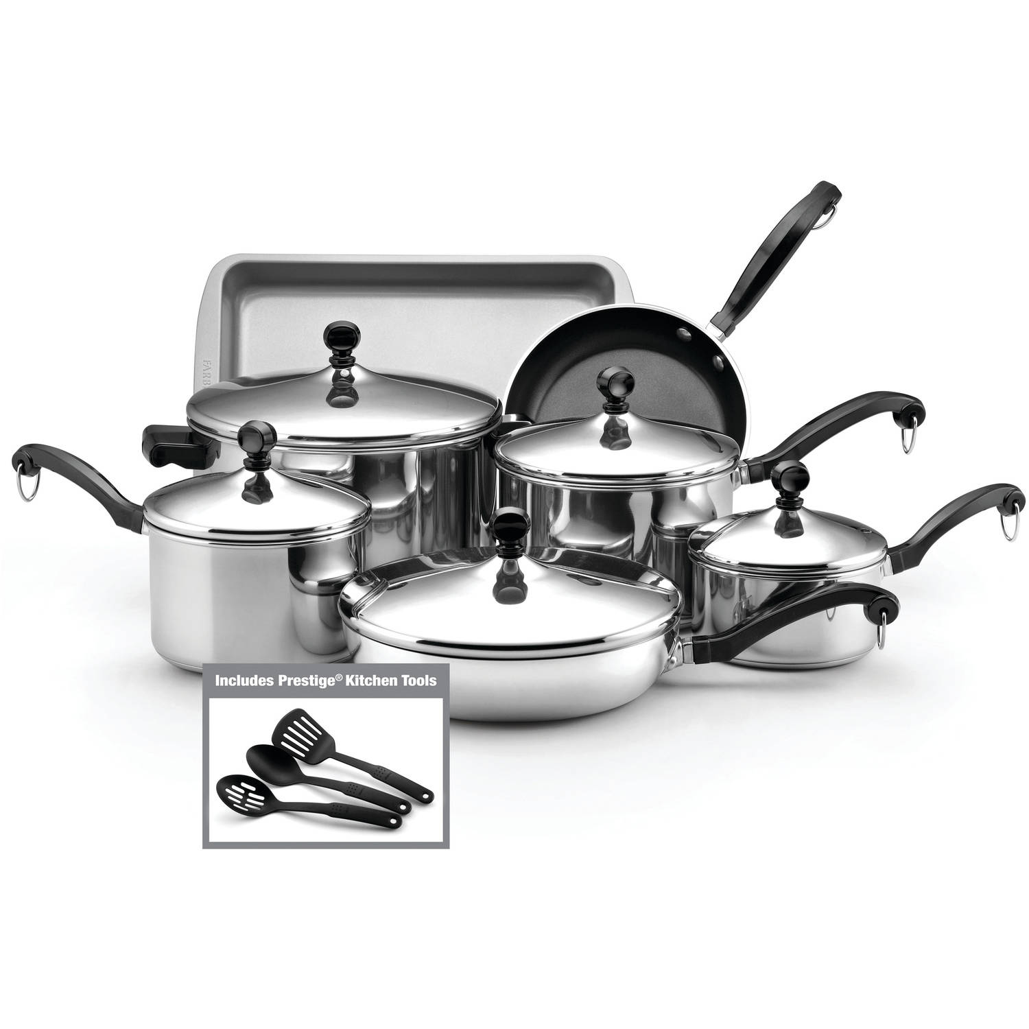 Farberware Classic Series Stainless Steel 15-Piece Cookware Set by Meyer Corporation