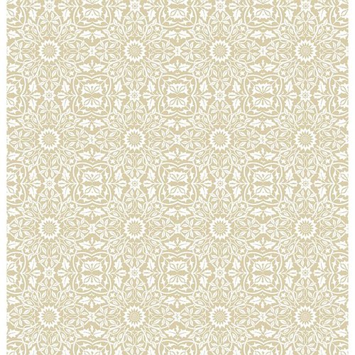 Quiltable Floral Fabric, Natural