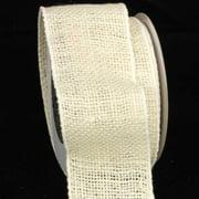 "Natural Cream Burlap Wired Craft Ribbon 3"" x 20 Yards"