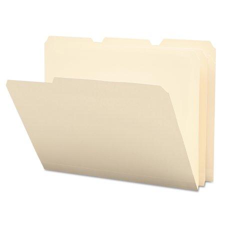 Smead Tear Moisture Resist Poly File Folders  1 3 Cut Top Tab  Letter  Manila  12 Pack