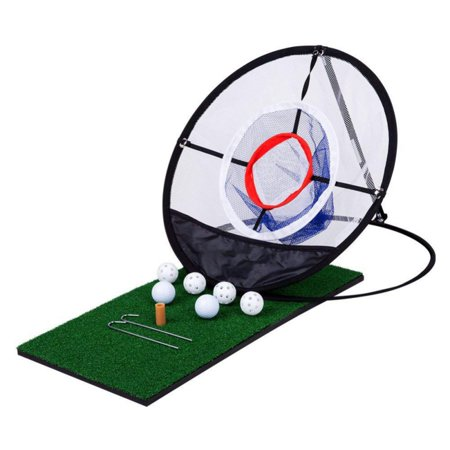 Golf Pop UP Chipping Pitching Cages Mats Practice Easy Net Golf Training Aids