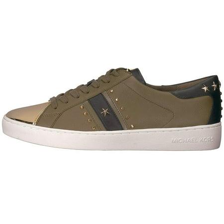 Michael Kors Womens Frankie Stripe Sneaker Low Top Lace Up Fashion Sneakers (Michael Kors Frankie)