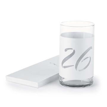 Hortense B Hewitt 31714 Wine Bottle Table Number Wraps - Wine Bottle Table Numbers