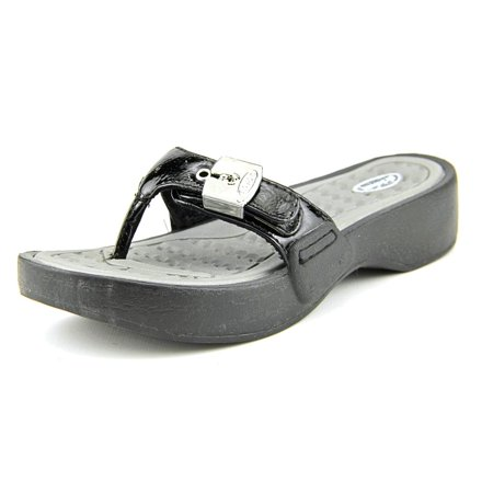 6825c7947ad7 Dr. Scholl s Shoes - Dr. Scholl s Roll Open Toe Synthetic Thong Sandal -  Walmart.com