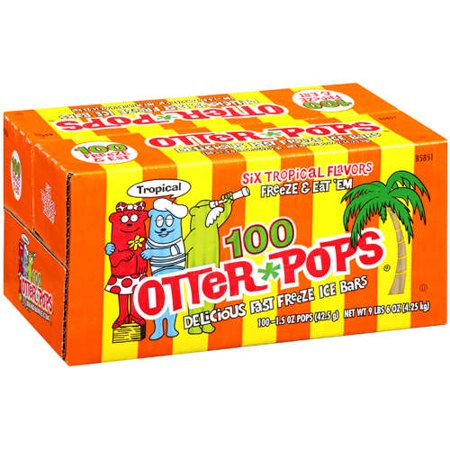 Otter Pops Tropical Ice Bars, 1 5 Oz , 100 Count