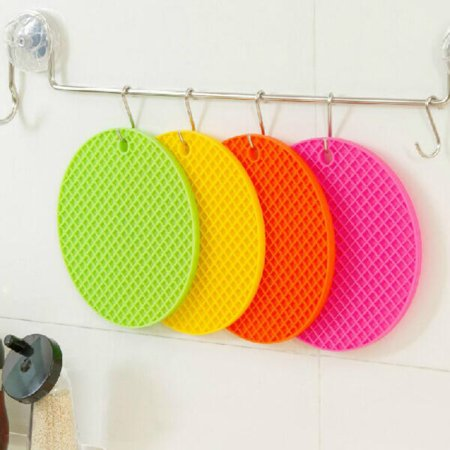 Silicone Pot Holder,1 PCS Trivet Mat Non Slip Heat Resistant Hot Pad Tableware Insulation Pad