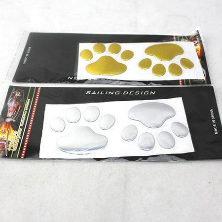 Brand New Car Sticker 3D Dog Bear Footprints Sgaoe Chrome Car Styling Sticker Decal - image 5 of 6