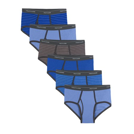 Fruit of the Loom Men's Dual Defense Stripe and Solid Fashion Briefs, 6 Pack 6 Pack Briefs