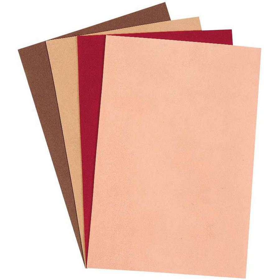 Creativity Street Foam Sheets, Assorted Skin and Hair Colors, 12 x 18 Inches, Pack of 10
