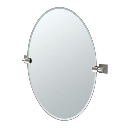 """Gatco 4079 Elevate 24"""" Oval Beveled Wall Mounted Mirror with Satin Nickel Accents by Gatco"""