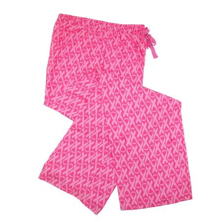 Boxercraft Women's Flannel Breast Cancer Awareness Ribbon Pajama Pants - image 2 de 4