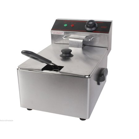 2500W Single Electric Deep Fryer with Basket Scoop Unit