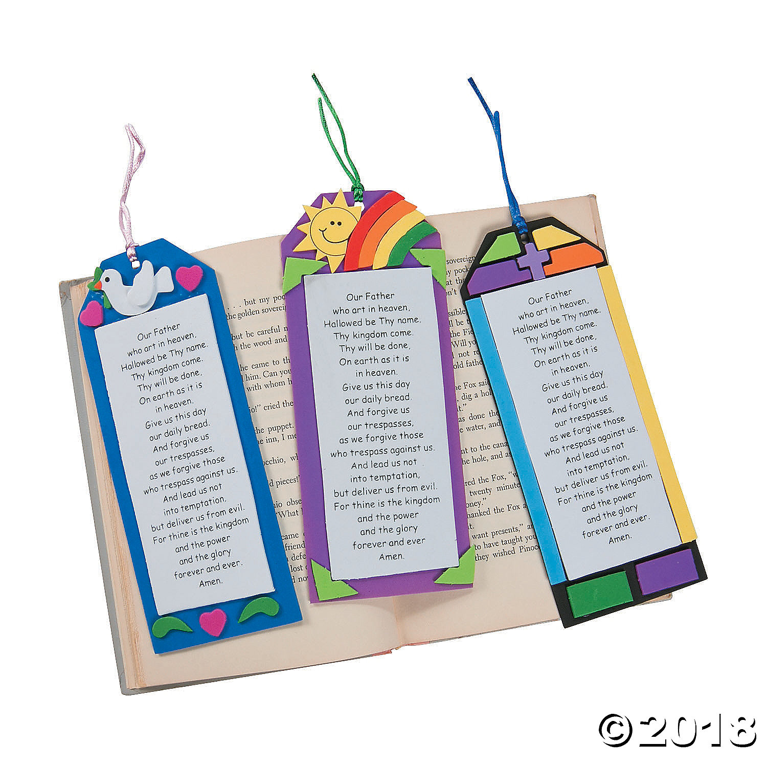 """""""The Lord's Prayer"""" Bookmark Craft Kit(pack of 4)"""