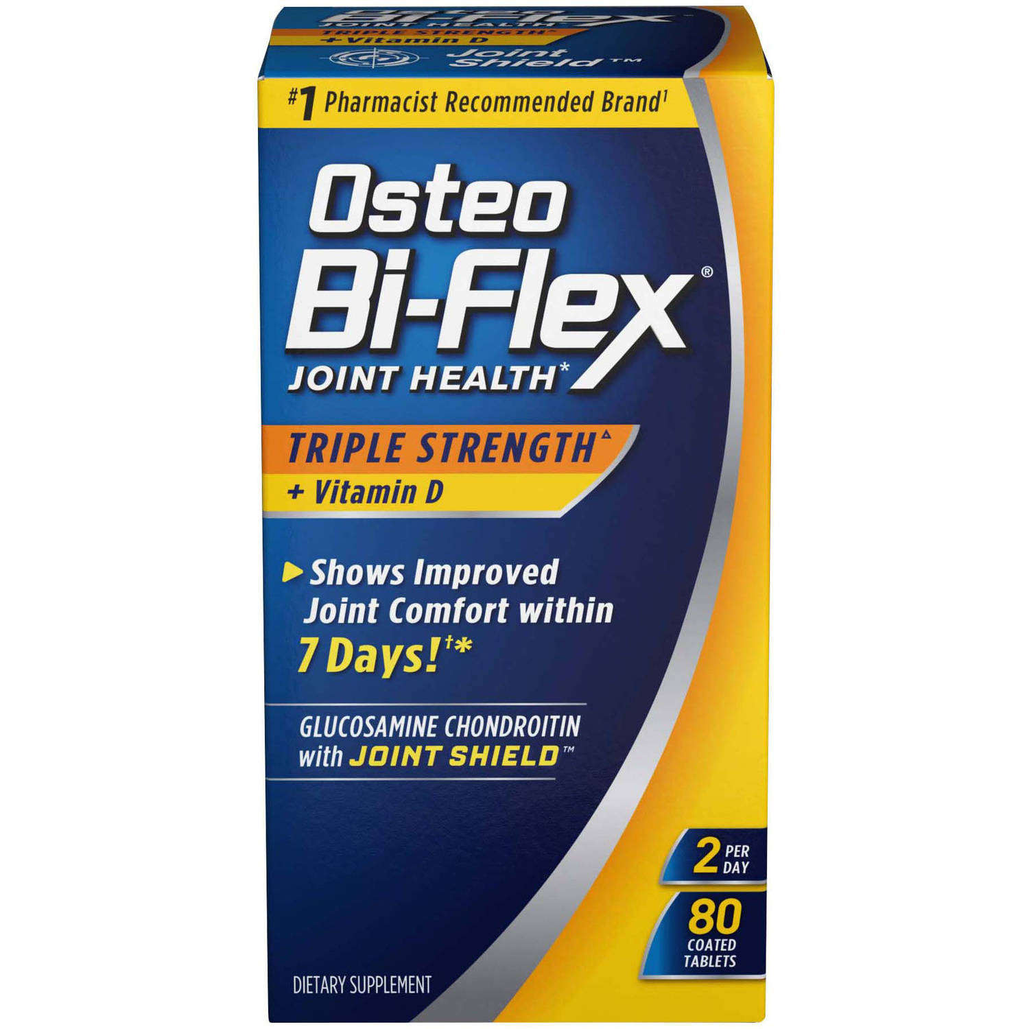 Osteo Bi-Flex Advanced Triple Strength Joint Shield Formula w/Vitamin D - 80 Ct