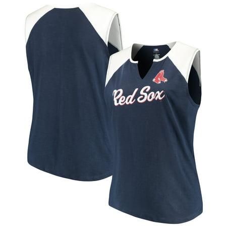 Women s Majestic Navy White Boston Red Sox Plus Size Shutout Supreme ... f3e1c2c5c4