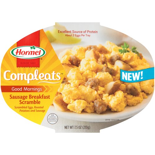 Hormel Compleats Good Mornings Sausage Breakfast Scramble, 7.5 oz