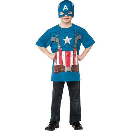 Winter Soldier Marvel Captain America T-Shirt Child Costume - Kids Soldier Costumes