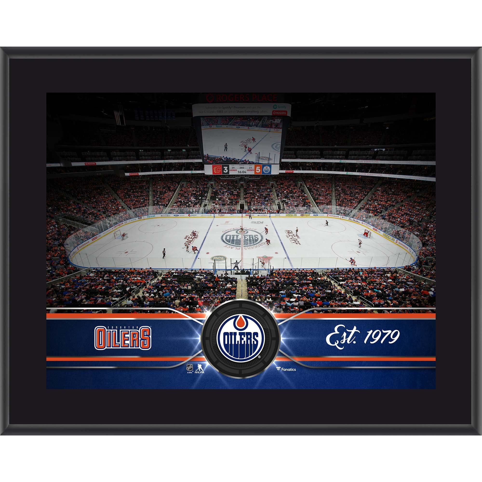 """Edmonton Oilers Fanatics Authentic 10.5"""" x 13"""" Sublimated Team Plaque - No Size"""