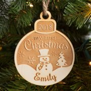 Personalized Wood Ornament - My First Christmas Ornament
