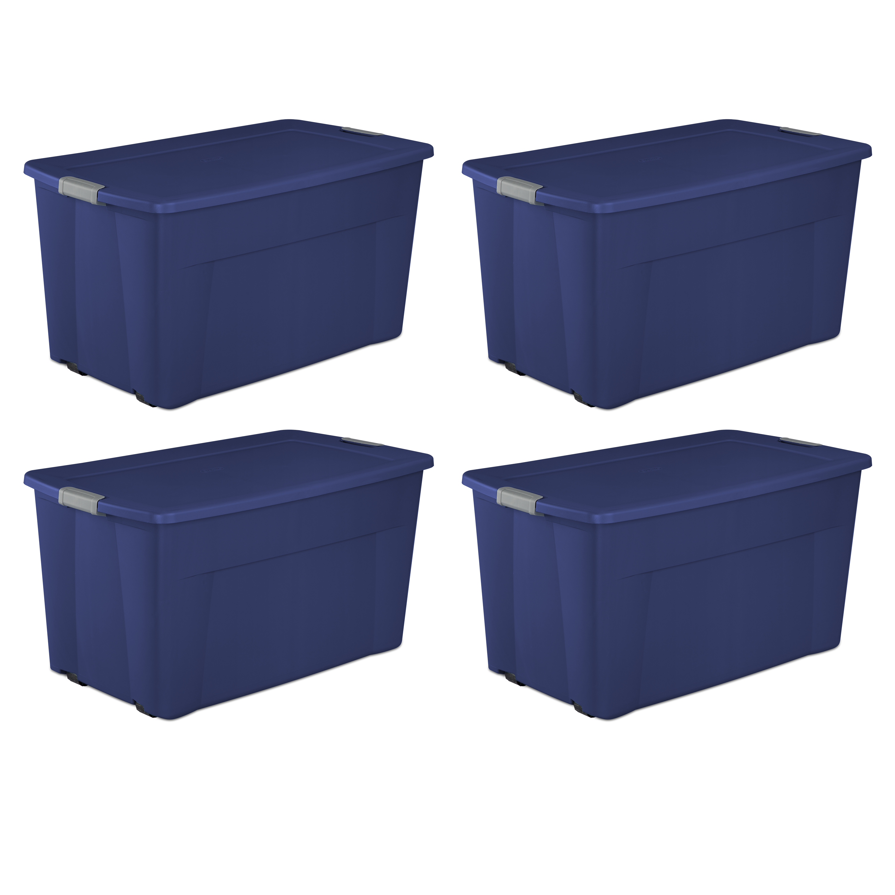 Sterilite, 45 Gal./170 L Wheeled Latch Tote, Case of 4